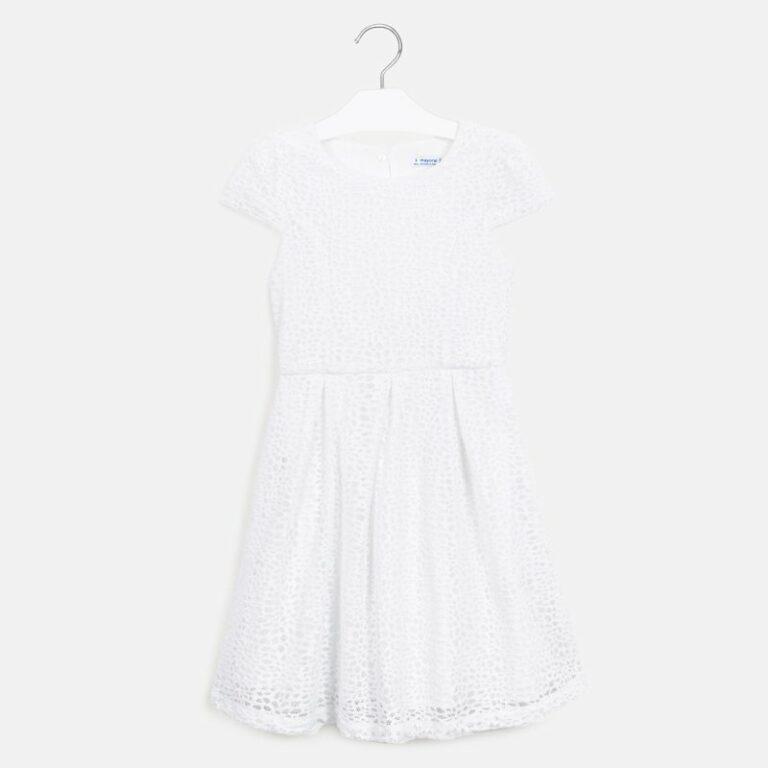 Παιδικό φόρεμα δαντέλα Mayoral λευκό 20-06959-064