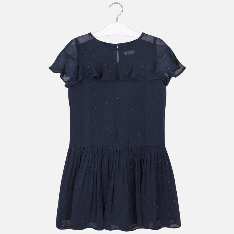 Παιδικό φόρεμα πλουμετί Mayoral μπλε 20-06976-038