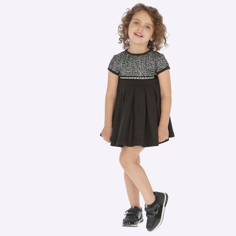 Παιδικό φόρεμα Mayoral μαύρο 19-04927-055