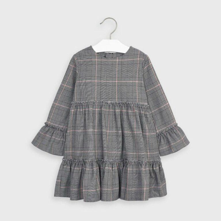Φόρεμα καρό Γκρι Mayoral 4983-25