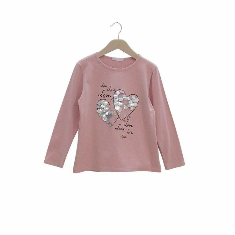 Μπλούζα μακρυμάνικη Ροζ ΕΒΙΤΑ 3112