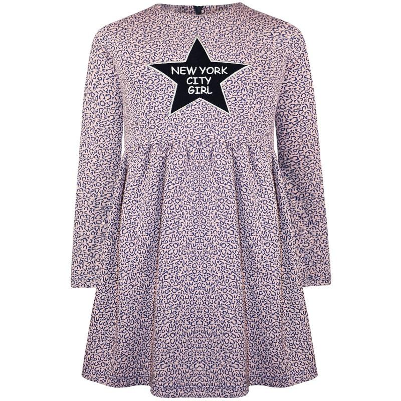 Φόρεμα εμπριμέ Λιλά Energiers 234-7