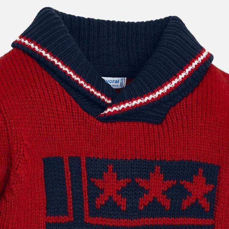 Μπλούζα πλεκτή γιακάς Κόκκινο Mayoral 4317-92