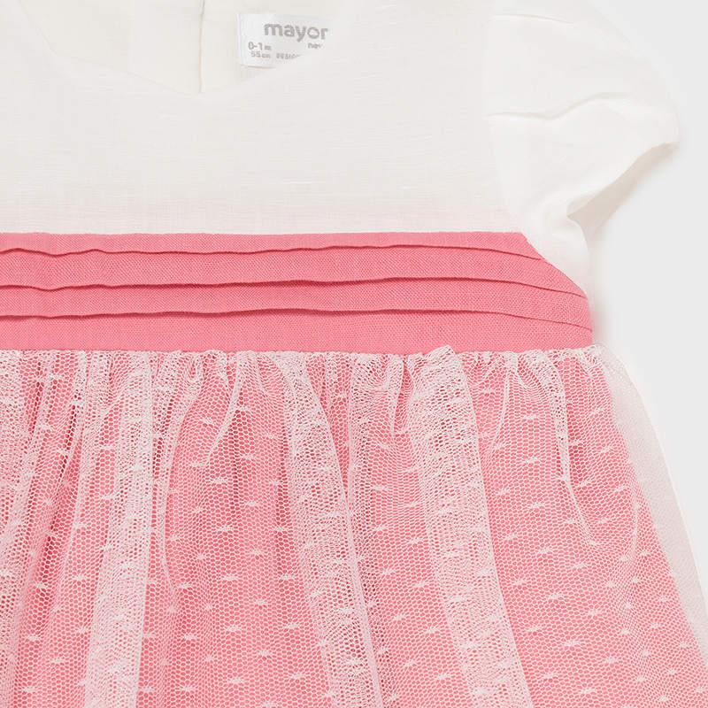 Βρεφικό σετ φόρεμα βρακάκι Mayoral 21-01823-063