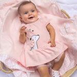 Βρεφικό φόρεμα Mayoral ροζ 21-01838-043