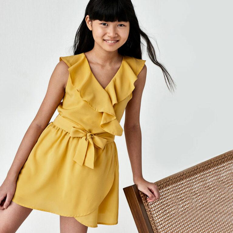 Παιδική ολόσωμη φόρμα Mayoral μουσταρδί 21-06816-056