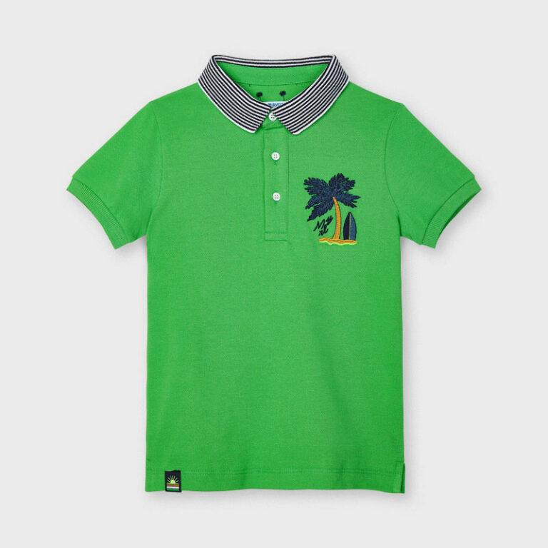 Παιδική μπλούζα πόλο κοντομάνικη Mayoral 21-03102-082