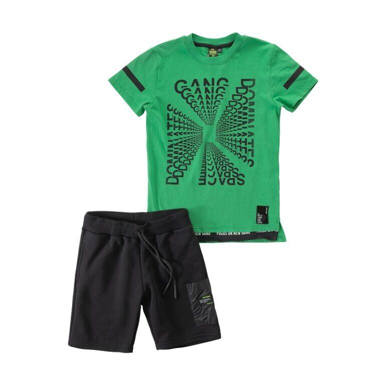 Παιδικό σετ βερμούδα μπλούζα Gang 121406