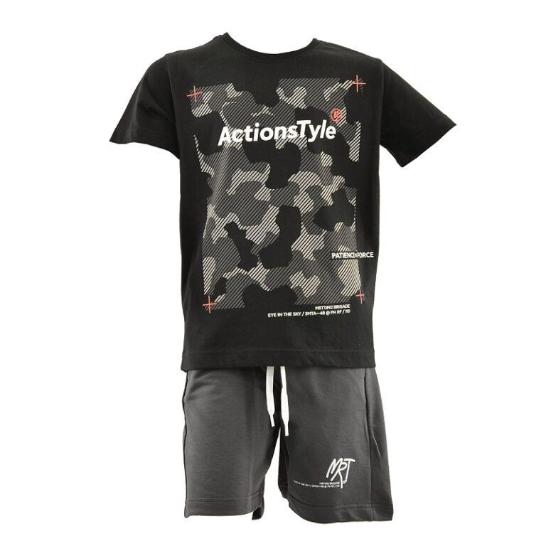 Παιδικό σετ βερμούδα μπλούζα Amaretto A11151A